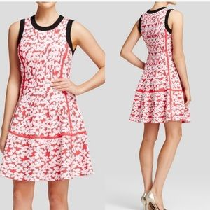😍❤️Kate Spade Red Floral Jaquard A-Line Dress